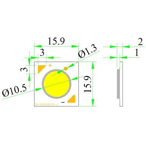 H16 LED COB Modules